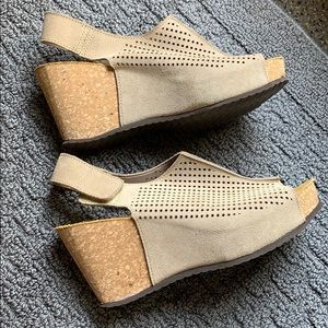 Worn once! A. Giannetti wedge sandals
